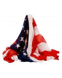 Foular algodon bandera americana