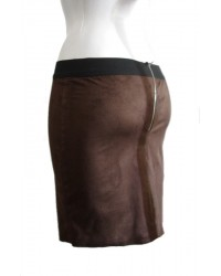 Mini falda de antelina