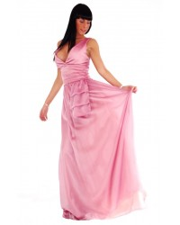 Vestido largo Broche