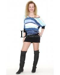 Conjunto falda multicolor